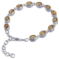 Bracelet Citrine (heated) oval, faceted