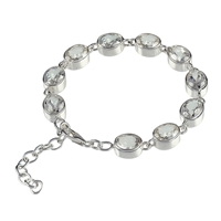 Bracelet Topaz (white) oval, faceted