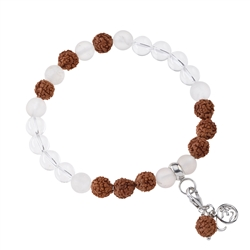 Gemstone Mala Bracelet Rock Crystal (Clarity)