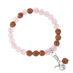 Gemstone Mala Bracelet Rose Quartz (Love)