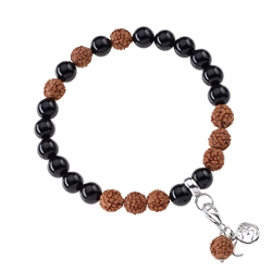 Gemstone Mala Bracelet Tourmaline black (Protection)