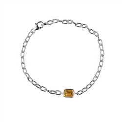 Bracelet Citrine Rectangle (7 x 9mm) facetted