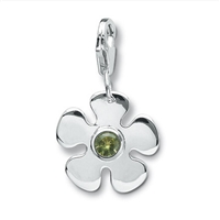 "Charm ""Flower with Peridot"", app. 28mm