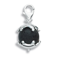 "Charm ""Lava Sphere with Star Cap"", app. 29mm"