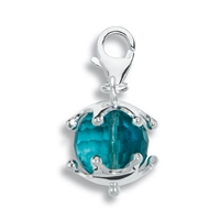 "Charm ""Fluorite Sphere with Star Cap"", app. 29mm"
