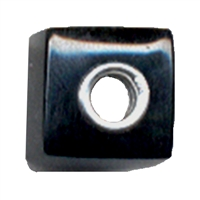 Large Hole Gemstone Bead, Onyx, Cuboid, 925 Silver lined 04mm large hole