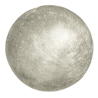 Hemisphere shape Silver frosted, 25mm