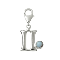 "Charm ""Gemini"" with Blue Lace Agate, 27mm"
