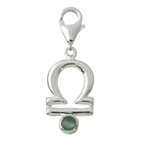 "Charm ""Libra"" with Serpentine, 33mm"