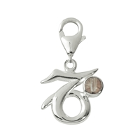 "Charm ""Capricon"" with Rock Crystal, 27mm"