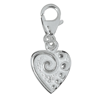 "Charm ""Heart with Pattern"", 27mm"