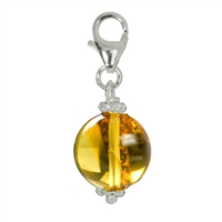 Charm Sphere Amber, appr. 32mm