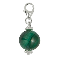 Charm Sphere Malachite, 29mm