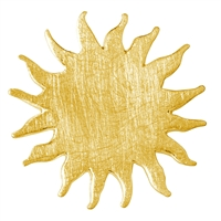 Sun Silver gold plated frosted, 25mm