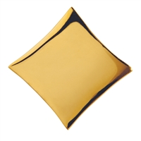 Rhomb  Silver gold plated, 25mm
