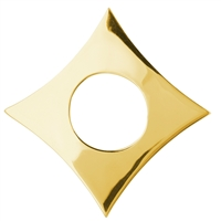 Rhomb Silver gold plated, 45mm