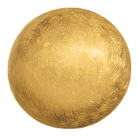 Hemisphere, Silver frosted gold plated, 25mm