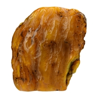 Partly polished Amber (natural), appr. 12,0 x 12,5cm