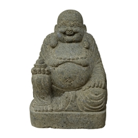 Buddha Statue laughing, Indonesia, volcanic rock, appr. 60 x 40 x 27cm