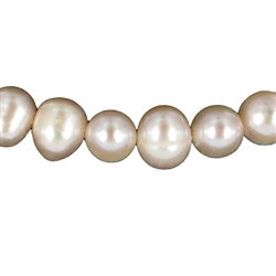 Potatoe Shapes of Stringed Pearl Beads