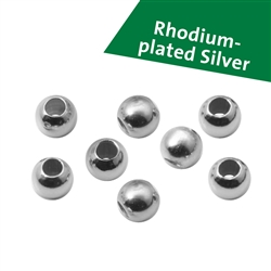 Rhodium plated Beads and Elements