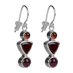 Earrings with Gemstones (Chili Jewels)