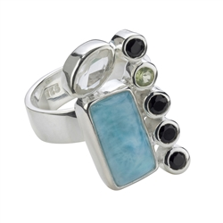 Rings with Larimar