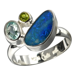 Rings with Opal and Fire Opal